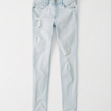 Womens Ripped Super Skinny Jeans | Womens New Arrivals | Abercrombie.com
