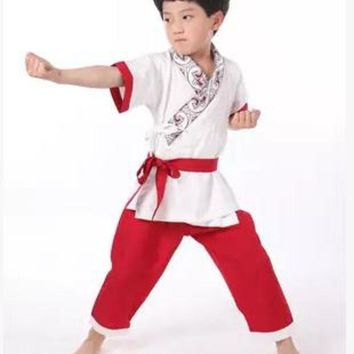 DCCKH6B chinese wushu uniforms for children wushu clothing kids ancient chinese warrior costumes wu shu uniform festive dance costumes