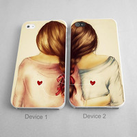 Blonde BFF Couples Phone Case iPhone 4/4S, 5/5S, 5C Series - Hard Plastic, Rubber Case