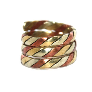 Adjustable  brass copper ring