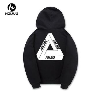 HZIJUE 2017 brand-clothing PALACE Mens Skateboards Hoodies Male 100% Cotton Triangle Skate Sweatshirt palace Hoodies S-XXL