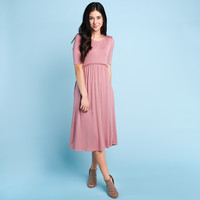 Milbank Trim Dress - Mauve | Called To Surf