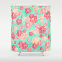 Blossoms Shower Curtain by Lisa Argyropoulos | Society6