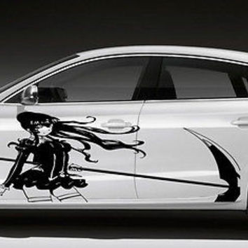 ANIME SEXY GRIM REAPER HOT DESIGN CAR VINYL STICKER GRAPHICS D1571
