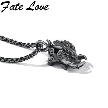 Original Fate Love 1404 Vintage Domineering Wild Boar Pendant Box Chain Heavy Pig Men Jewelry Fashion Necklace Boy