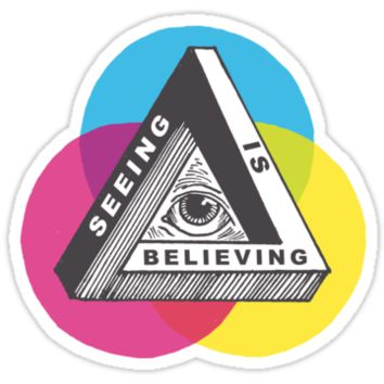 'Seeing is Believing' Sticker by andrewhenry