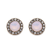 Rhinestoned Faux Gemstone Studs