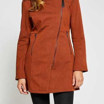 Houston Trending Rain Jacket in Burnt Orange