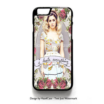 Marina And The Diamond - I Hate Everything for iPhone 4 4S 5 5S 5C 6 6 Plus , iPod Touch 4 5  , Samsung Galaxy S3 S4 S5 Note 3 Note 4 , and HTC One X M7 M8 Case Cover