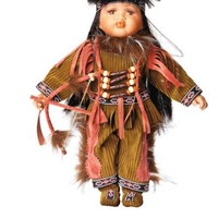 Golden Keepsakes Porcelain Ahiga American Indian Doll