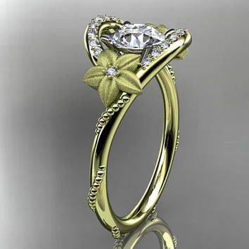 14kt yellow gold diamond unique engagement ring,wedding ring ADLR166