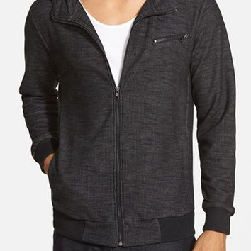 Men's UNCL 'Rider' Waffle Knit Terry Zip Hoodie ,