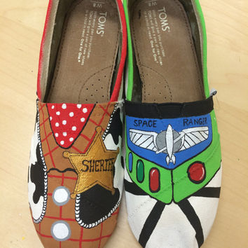 Buzz and Woody Themed TOMS