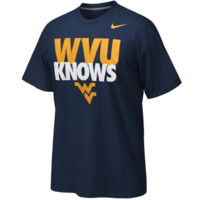 Nike West Virginia Mountaineers WVU Knows T-Shirt - Navy Blue