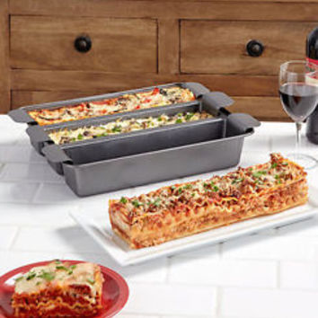 Chef Tony™ Trisagna Pan Makes 3 Different Types Of Lasagna At Once Kitchen Pans
