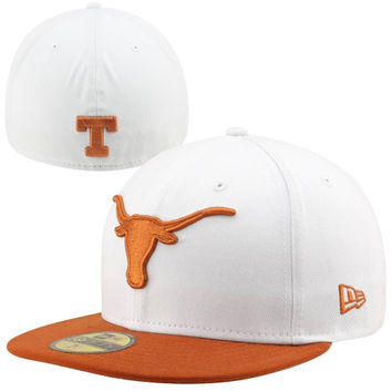 New Era Texas Longhorns Two-Tone 59FIFTY Fitted Hat - White/Burnt Orange