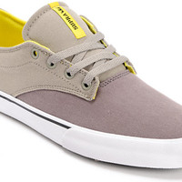 Supra Pistol Charcoal, Grey & Yellow Canvas Shoe at Zumiez : PDP