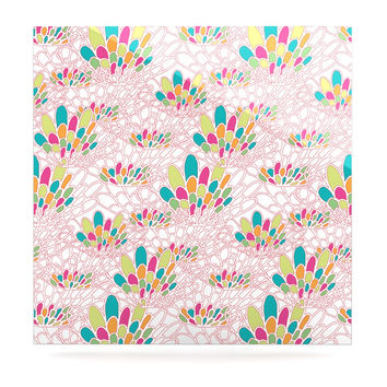 "Miranda Mol ""Blown Away"" Pink Multicolor Luxe Square Panel"