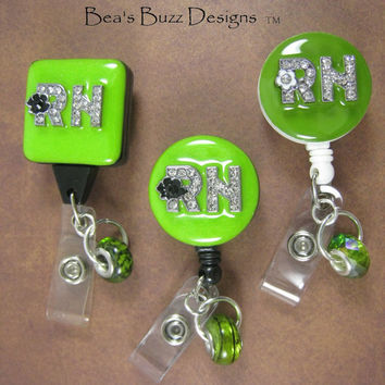 PERSONALIZED BADGES -Retractable Badge Reel,Id Badge Clip,Designer Badge Holder,Nurse Jewelry,Id Badges,Nuse Gift,Teacher,Lanyard,Id Holder