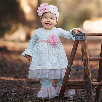 2018 Fall Haute Baby Fairy Frost Infant & Toddler Swing Set