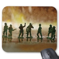 Plastic Soldiers World War 2 Scene Mousepad