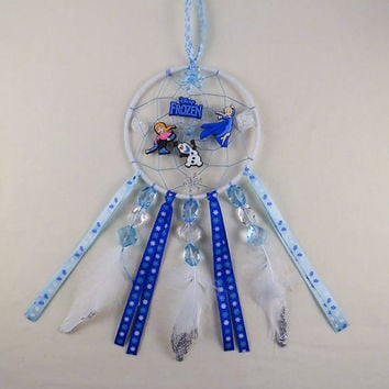Disney Frozen inspired dreamcatcher-Elsa, Anna, Olaf