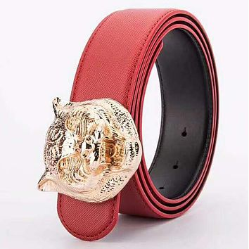 GUCCI tide brand trend simple wild men and women models smooth buckle belt #2
