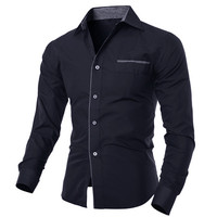 Long Sleeve Patch Pocket Button Down Shirt
