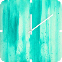 DENY Designs Home Accessories | Madart Inc. Modern Dance Aqua Passion Custom Clock Sale Item