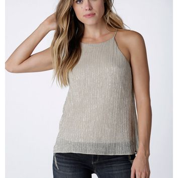 A-List Metallic Tank Top