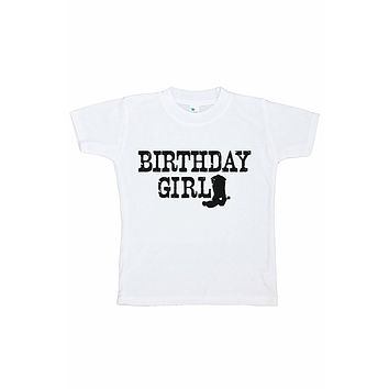 7 ate 9 Apparel Girl's Cowgirl Birthday T-shirt