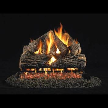 "Peterson Real Fyre Vented 18"" Charred Oak Gas Logs"