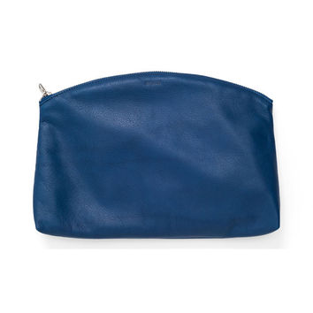 Small Leather Clutch: Blue