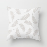 MY SOFT FEATHERS Throw Pillow by Julia Grifol Designs