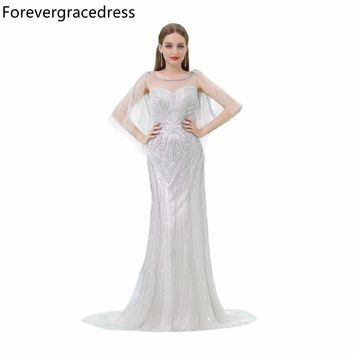 Forevergracedress Luxury Prom Dress New Arrival Illusion Heavy Beaded Crystals Long Evening Party Gown Plus Size Custom Made