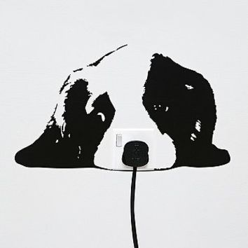 Wall Socket Puppy Sticker - Urban Outfitters