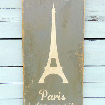 Typography Wall Art Paris is Always a Good Idea by 13pumpkins