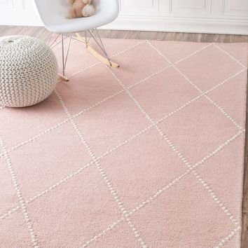TuscanDotted Diamond Trellis Nursery Rug
