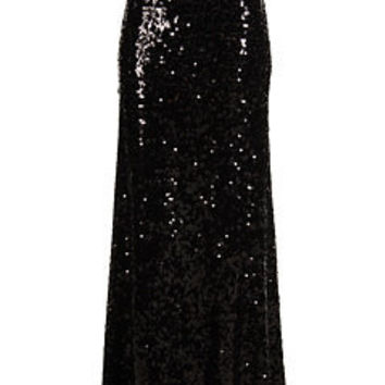 Calvin Klein Sequin Maxi Skirt Black - Zappos.com Free Shipping BOTH Ways