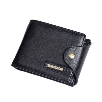 2016 Fashion Mens Wallet Leather ID Card Holder Billfold Zip Purse Wallet Handbag Clutch carteras mujer #35