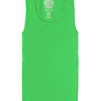Original Seamless Ribbed Tank Top Neon Green
