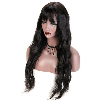 Black Long  Wavy Hairstyle Wig