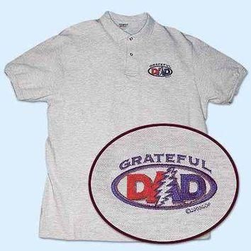Grateful Dead - Grateful Dad Embroidered Polo Shirt