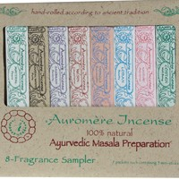 Auromere Ayurvedic Incense Sampler Pack 8 Packets