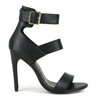 Fahrenheit Lenka-01 High Heel Sandal in Black @ ippolitan.com