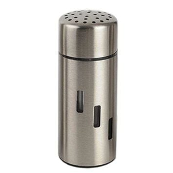 Stainless Steel Seasoning Bottle Can Double-sided Big Hole
