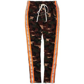 Reflective Track Pants Camo / Orange
