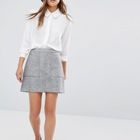 New Look A-Line Pocket Detail Skirt