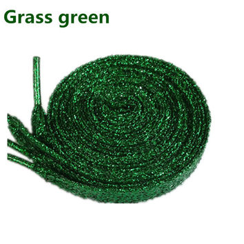 2017 Sparkly Shiny Grass Green Shoe Laces