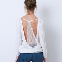 Inner Beauty Top - White Lace